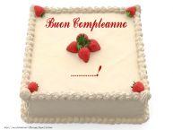Crea cartoline personalizzate di compleanno | Torta con fragole - Buon Compleanno ...!