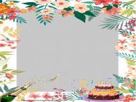 Crea cartoline personalizzate di compleanno | Cornice foto di Compleanno