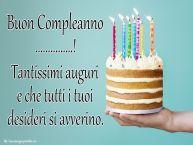 Crea cartoline personalizzate di compleanno | Buon Compleanno ...! Tantissimi auguri e che tutti i tuoi desideri si avverino.