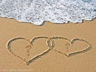 Crea cartoline personalizzate con Iniziale di nome | Le iniziali dei nomi sulla sabbia ... ...