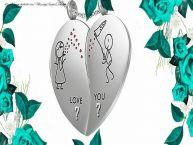 Crea cartoline personalizzate con Iniziale di nome | Love you ... ...