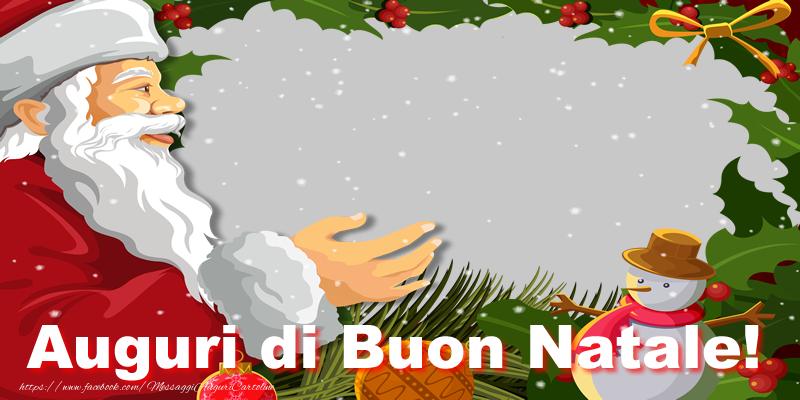 Foto Di Natale Con Auguri.Auguri Di Natale Con Foto Personalizzata