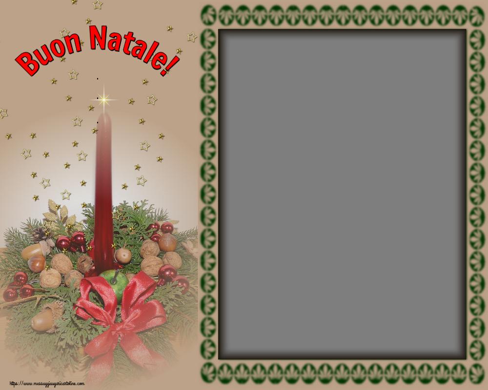 Crea cartoline personalizzate con foto | Natale | Buon Natale! - Cornice  foto di Natale