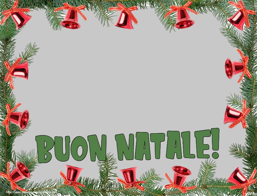 Crea cartoline personalizzate di Natale   Cornice foto di Natale: Buon Natale!