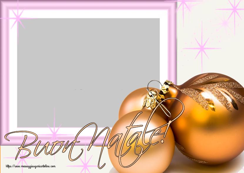 Crea cartoline personalizzate di Natale   Buon Natale! - Cornice foto di Natale