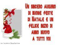 Crea cartoline personalizzate di Natale | Un sincero augurio di  buone feste di Natale e un felice inizio di anno nuovo a tutti voi