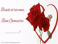 Crea cartoline personalizzate di onomastico | Brindo al tuo nome, Buon Onomastico, ...