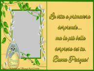 Crea cartoline personalizzate di Pasqua | La vita a primavera sorprende... ma la più bella sorpresa sei tu. Buona Pasqua!