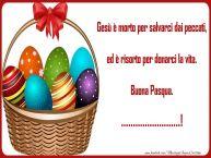 Crea cartoline personalizzate di Pasqua   Gesù è morto per salvarci dai peccati, ed è risorto per donarci la vita. Buona Pasqua. ...