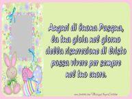 Crea cartoline personalizzate di Pasqua | Auguri di buona Pasqua, la tua gioia nel giorno della risurrezione di Cristo possa vivere per sempre nel tuo cuore.